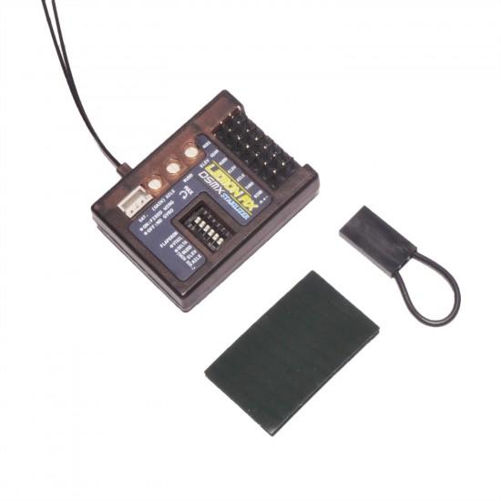 Lemon Rx Stabilizer 7-Ch. (Top Pin) DSMP (DSMX /DSM2 compatible) with Diversity Antenna