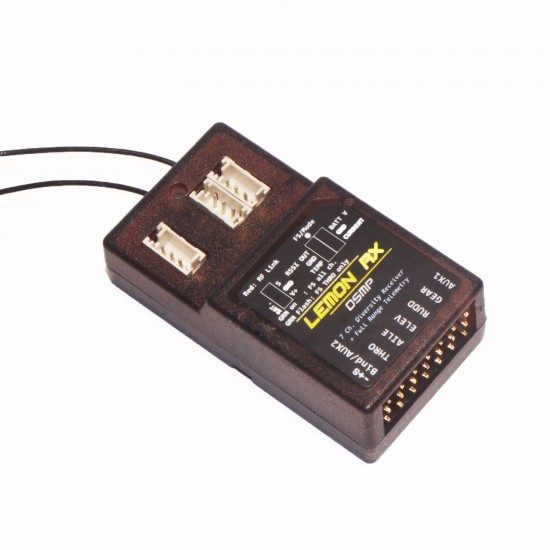 Lemon Rx DSMP (DSMX compatible) 7-Channel Full-Range Telemetry with diversity receiver (Energy Meter) EC5 130A Package