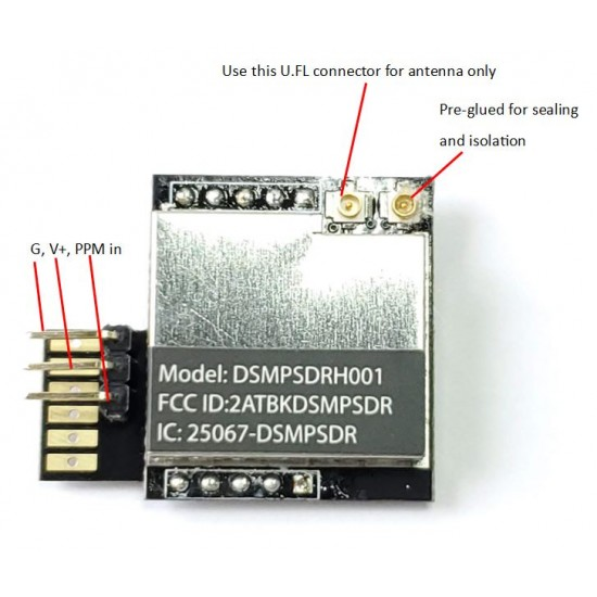DSMP DIY module for legacy transmitter (DSMX/DSM2 compatible)